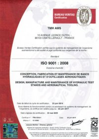 Certificat ISO 9001 TMH-ams